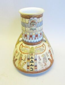 ... Antique-Noritake-Orientalist-Egyptian-Nippon-Vase-c-1890-HP-Porcelain