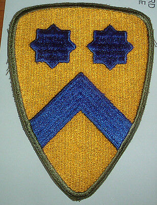 AMERICAN PATCHES-ORIGINAL WW2 2nd CAVALRY DIVISION SNOWY WHITE BACK