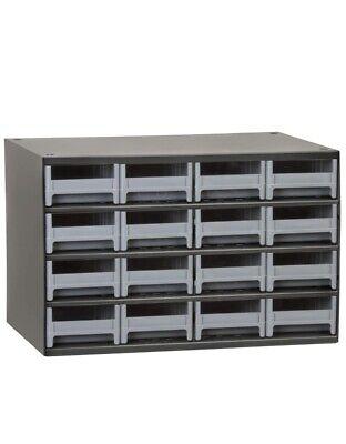 New Akro-mils 19416 11l X 17w X 11h Gray Metal Storage Drawer Bin Cabinet