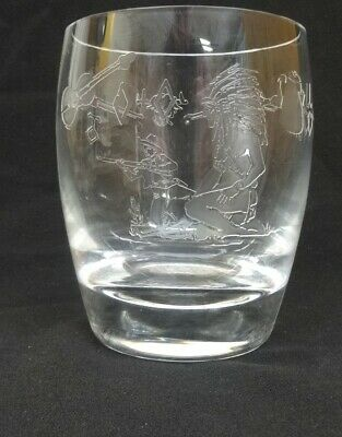 Vintage 1950 Heisey Winchester 73 Glass 14oz Tumbler 4 3/8