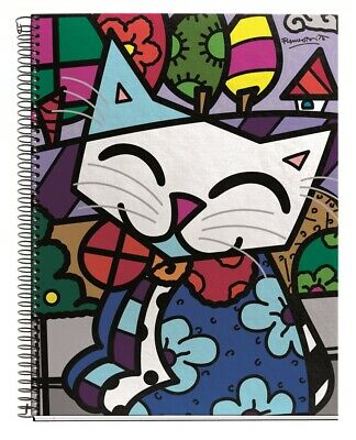 Miquelrius Britto Cat 4-subject College Rule Cardboard Notebook 4x6