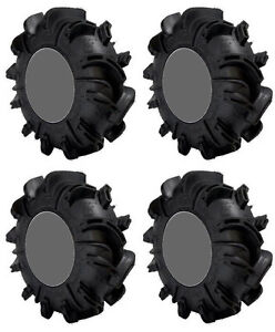 Four 4 Gorilla Silverback ATV Tires Set 2 Front 28x10-12 & 2 Rear 28x10-12