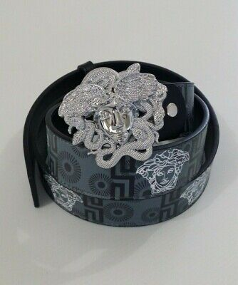 Versace Belt Mens Size Large Medusa Buckle 115cm