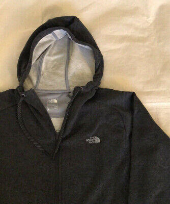 The North Face Performance Zip Up Hoodie Gray M Large