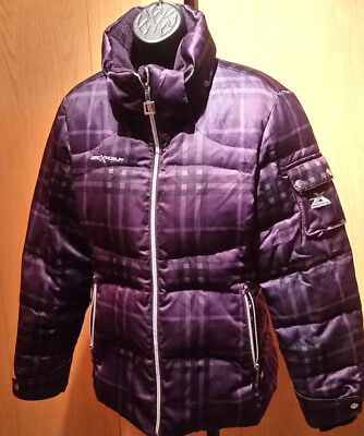 Purple Winter Coat - Zero Exposure Women's Winter Coat MED, PURPLE BLACK MISSING HOOD