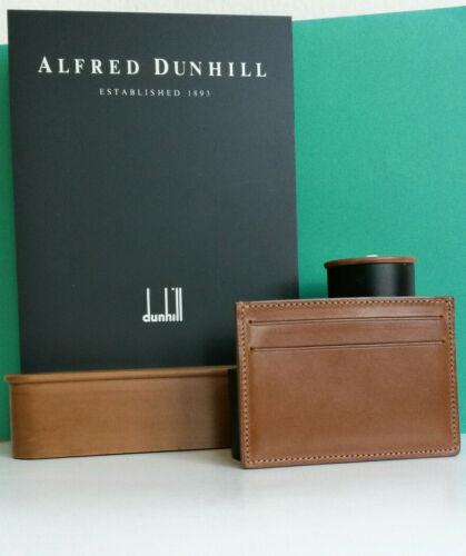 Dunhill Light Brown Leather Card Holder - Nwot