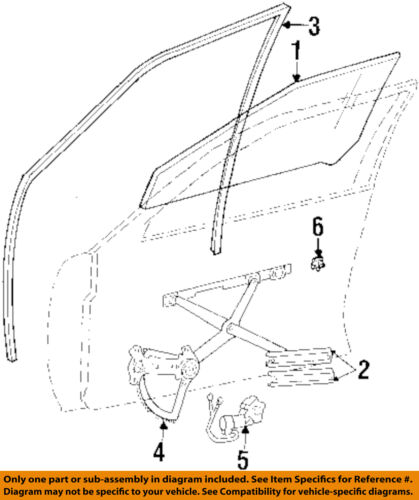 Details about Mercedes MERCEDES-BENZ OEM 86-93 300E Front Door-Window Glass  Left 1247200318