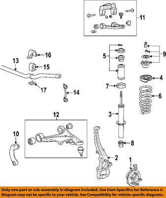 Cadillac GM OEM 08-11 STS Front Suspension-Hub & Bearing 89060208