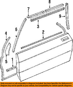 MERCEDES-BENZ-MB OEM 1077200978 Door-Door Weather Strip
