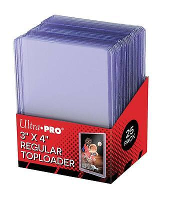 Ultra Pro Top (Pack of 25 ~ Ultra Pro 3x4 Regular Clear Rigid Top Loaders ~ New)