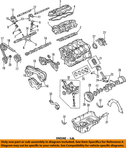 [ZSVE_7041]  Mercury FORD OEM 94-02 Villager-Engine Oil Pan Gasket F4XY6781BA | eBay | 1999 Mercury Villager Engine Diagram |  | eBay