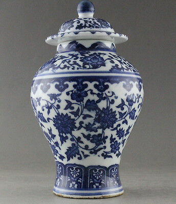 Fine China Hand Painted flower Blue and White Porcelain vase & Jar