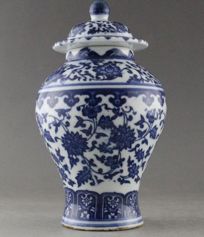 Fine China Hand Painted flower Blue and White Porcelain vase & Jar