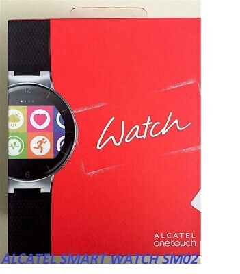 ALCATEL ONETOUCH SMART WATCH SM-02 IN BLACK AND RED COLOUR UK SELLER