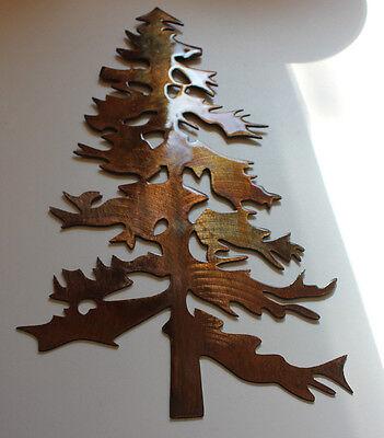 "Outdoor Pine tree 12 ""tall  Metal Wall Art Decor"