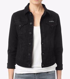 Black Stretch Denim Jacket | eBay
