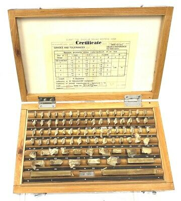 New 81 Pc Grade B Machinist Tool Inspection Gage Block Set .050-4 W Wood Case