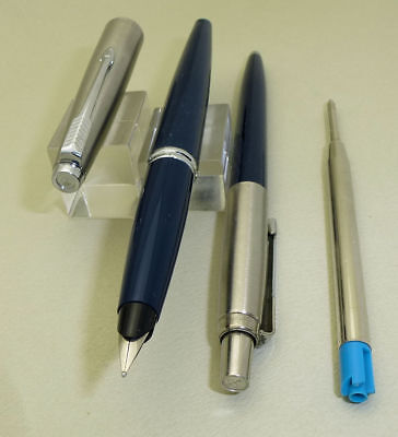 Vintage Blue Parker 45 Fountain Pen, w/Converter and Jotter
