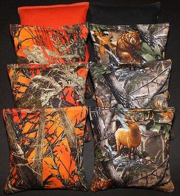 CORNHOLE BEAN BAGS Orange Tree Camo REALTREE Deer 8 ACA