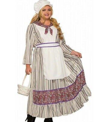 Pioneer Woman Costume Dress Adult Little House Prairie Pilgrim - Plus Size XL -](Adult Pilgrim Costume)