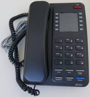 Interquartz IQ360 Corded Black Phone - good working