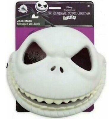 Disney Store Nightmare Before Christmas Jack Skellington Costume Plastic Mask