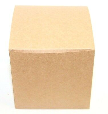 Lot Of 100 6x6x6 Gift Retail Shipping Packaging Boxes Kraft Light Cardboard