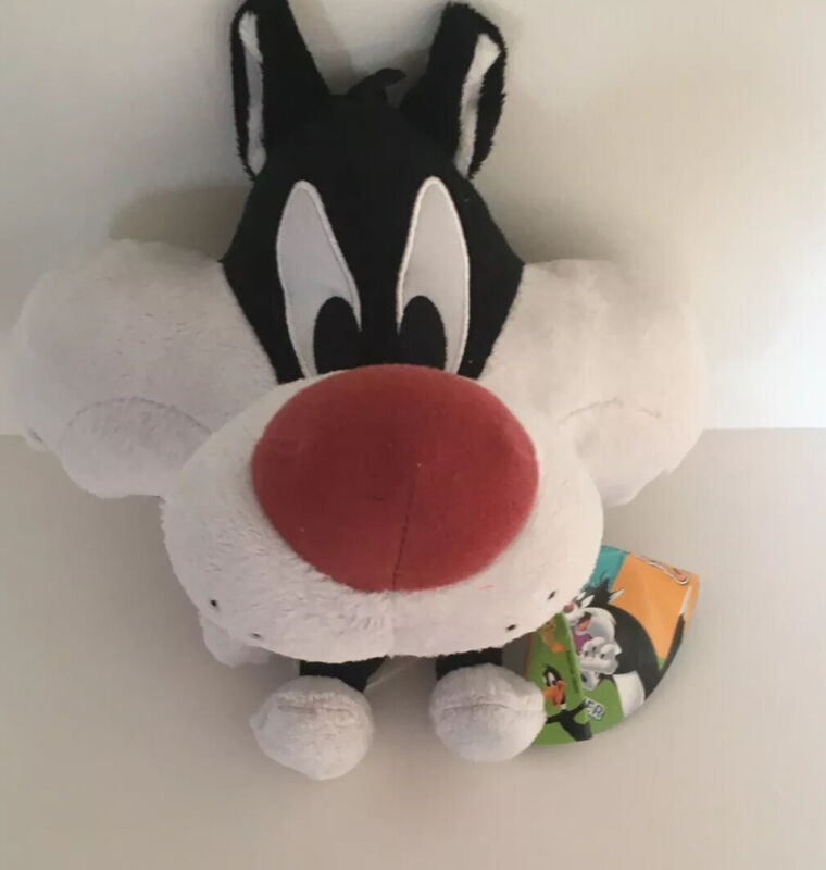 """Looney Tunes Sylvester The Cat Plush.  Great Used Condition.  9"""" Tall."""