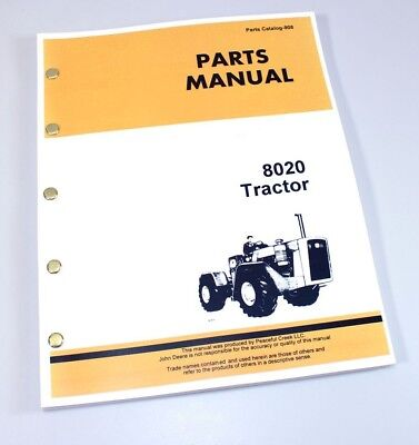 Parts Manual For John Deere 8020 Tractor Catalog Assembly Exploded Views