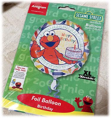 Anagram Large Mylar Round Helium Balloon SESAME STREET ELMO Happy 1 Birthday - Elmo Helium Balloons