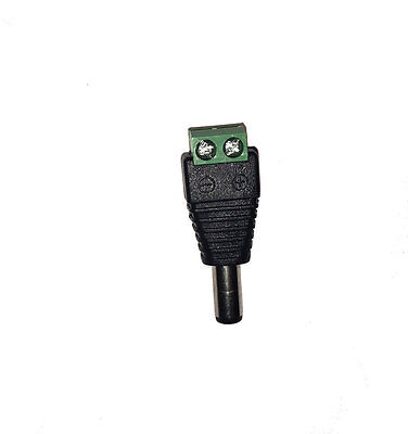 DC Stecker Steckverbinder Adapter 2.1 x 5.5mm Schraubklemmen LED Hohlstecker