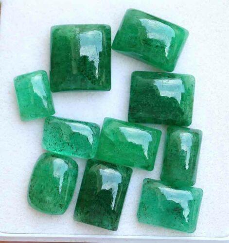 49.80 Ct Natural Cushion Cabochon Brazilian Green Emerald Loose Gemstone