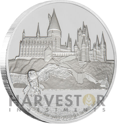 2020 HARRY POTTER - HOGWARTS CASTLE - 1 OZ. SILVER COIN - FIRST IN SERIES