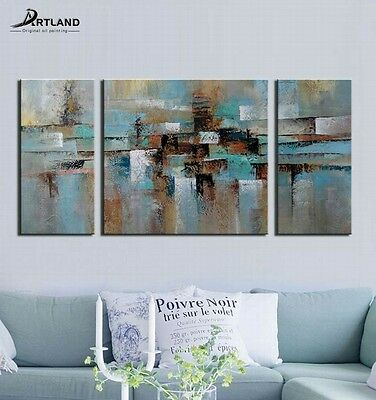 Framed Hand Painted Original Canvas Wall Art Painting Home Decor 3-piece/Set