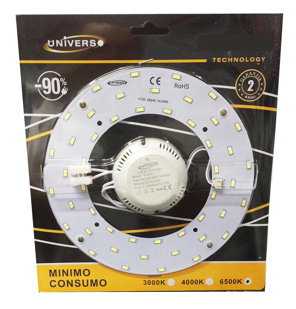 Circolina led 5730 modulo ricambio neon corona led per plafoniere 12 18 24 watt
