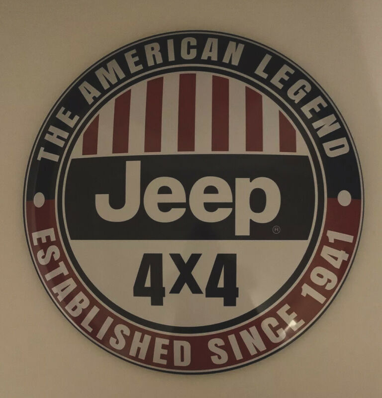 Jeep American Legend Established Since 1941 Domed Button Tin Metal Sign 4x4 New