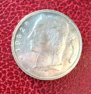 Belgique - Superbe monnaie de 5 francs 1962  Fr