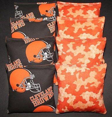 Cleveland Browns Tailgate Toss (CLEVELAND BROWNS Cornhole Bean Bags 8 ACA Regulation Corn Toss Tailgate Bags )