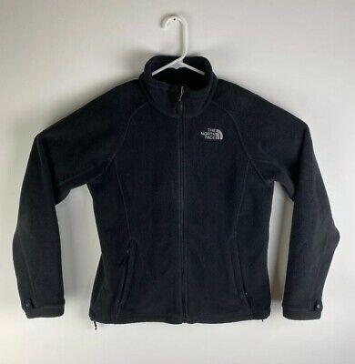 Women The North Face fleece polyester black zip-up jacket, sz M