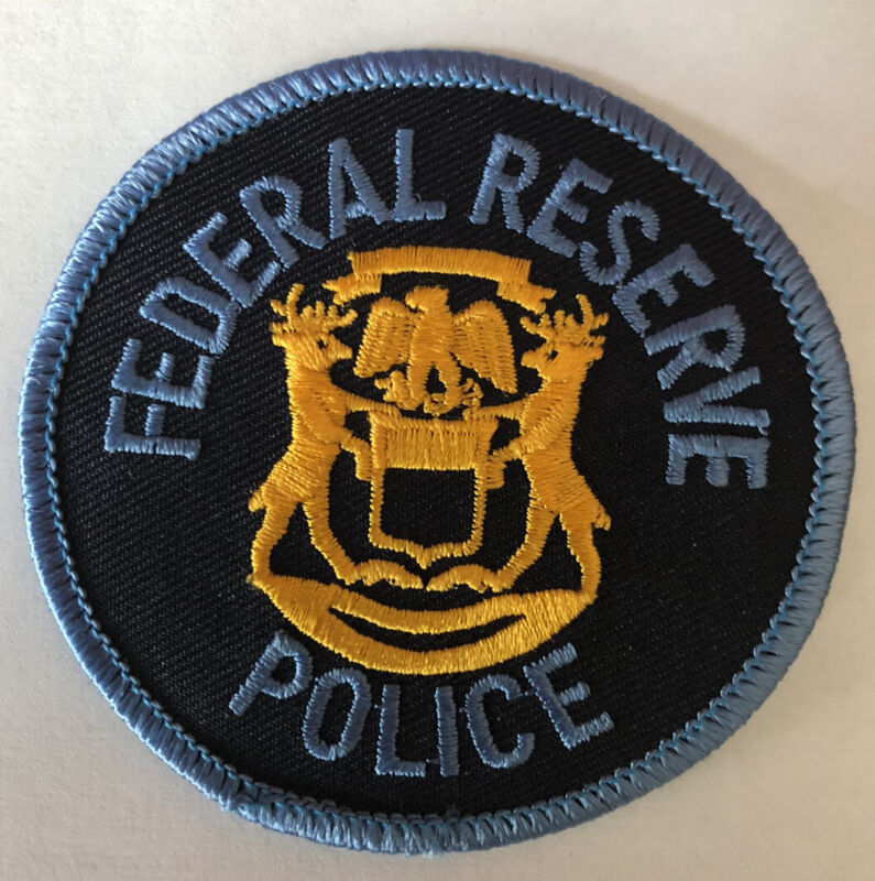 RARE Detroit Michigan Federal Reserve Police Patch ~ New Condition