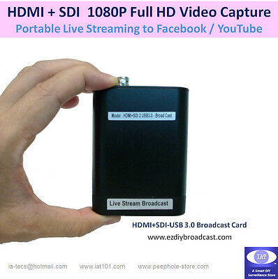 Portable HDMI + SDI USB broadcast Card for Facebook YouTube Twitter live stream