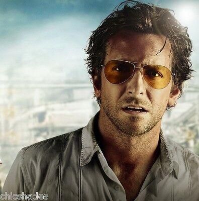 aviator movie jcbf  THE HANGOVER 2 Movie Aviator Sunglasses Blue Blocker Polycarbonate Amber  Lens
