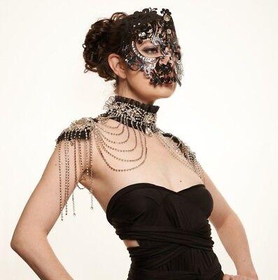 Macabre Skull Venetian Laser Cut Masquerade Mask Mardi Gras Halloween Costume](Halloween Costumes Mardi Gras)