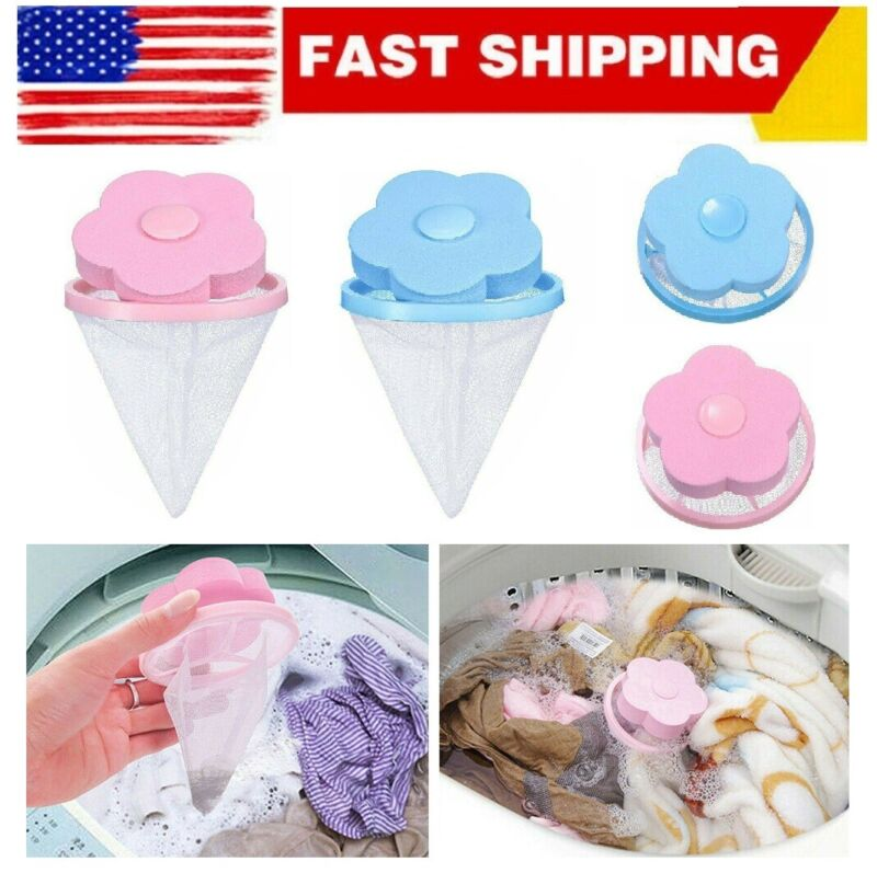 2Pack Washing Machine Floating Remover Pet Fur Catcher Laundry Hair Lint Catcher