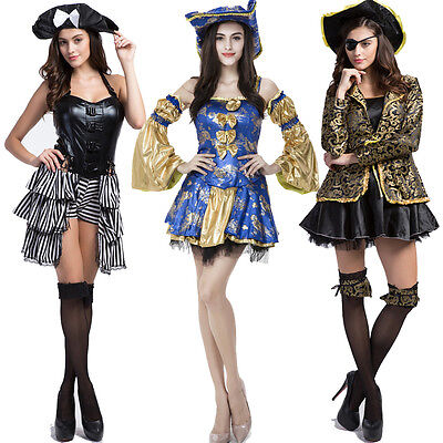 Supper Sexy Pirate Girl Lingerie Halloween Costume Role Play Skirt Cosplay Dress - Halloween Supper