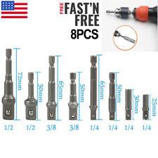 "105 Degree Right Angle Drill Bit 1//4/"" 3//8/"" 1//2/"" Hex Shank Socket Adapter Set"