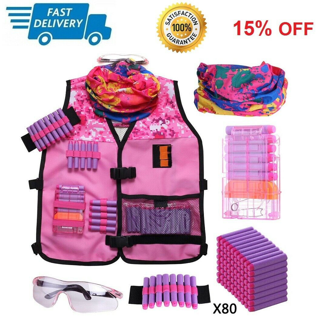 girls tactical vest kit compatible with nerf