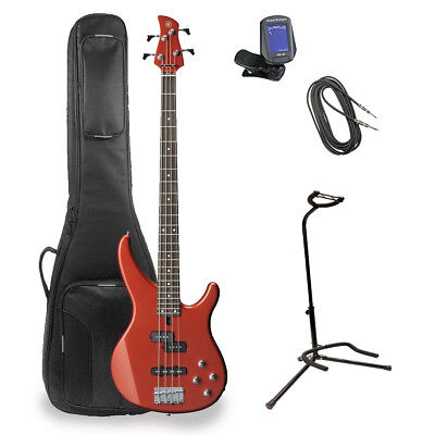 - Yamaha TRBX204 Electric Bass Guitar With Deluxe Bag & Accessories - Metallic Red