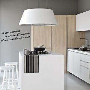 Wall stickers frase vino wine adesivo murale cucina - Wall stickers cucina ...