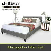 CHILL DESIGN FABRIC DOUBLE & QUEEN BED FRAME UPHOLSTERED BEDHEAD Brisbane City Brisbane North West Preview